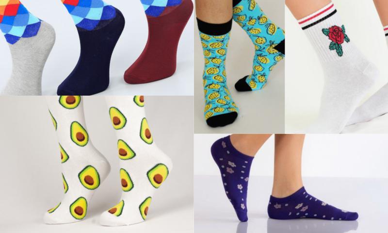 Hediyede Yeni Moda Desenli Çoraplar