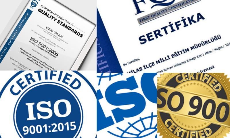 ISO 9001 Belgesi İzmir